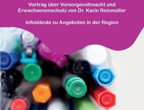 Information: Vortrag über Vorsorgevollmacht und Erwachsenenschutz im Haus des Lebens (Steirische Alzheimerhilfe)